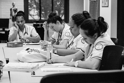 a group of female nursing students